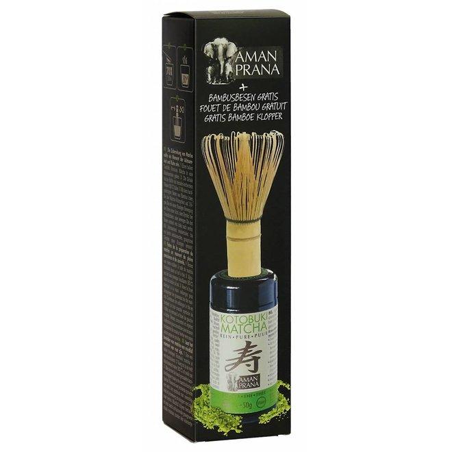 Kotobuki Matcha incl Bamboe Klopper - 50g - BIO
