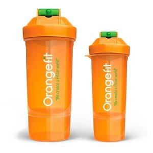 Orangefit Fit Shaker  800ml met apart compartiment