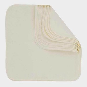 Imse Vimse Herbruikbare katoenen doekjes - Natural - 12 stuks - 22,5x22,5 cm