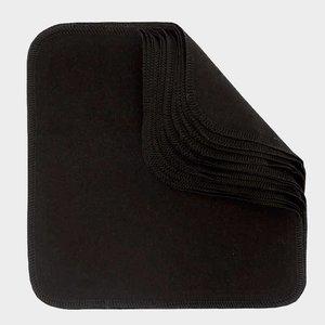 Imse Vimse Herbruikbare katoenen doekjes - Black - 12 stuks - 22,5x22,5 cm