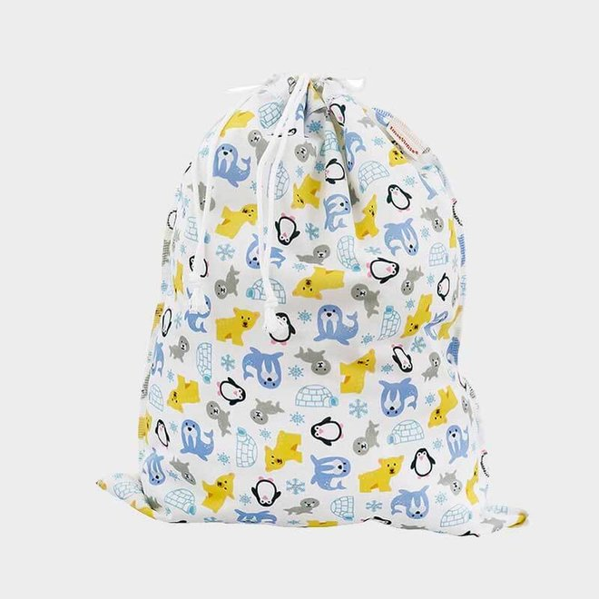 Wetbag Large - Winterprint met koord