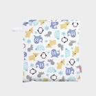 Wet bag Snowland met rits - Medium - 28x26cm