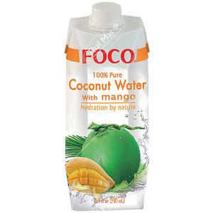 Foco Kokoswater - 100% Puur - Mango 500ml