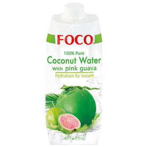 Foco Kokoswater - 100% Puur - Pink Guave 500ml
