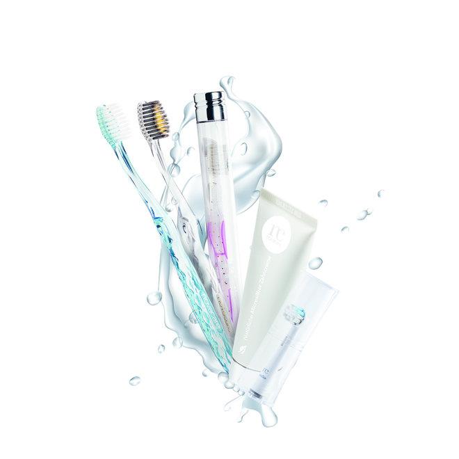 Kindertandenborsel - Micro Zilver - Roze - 1st