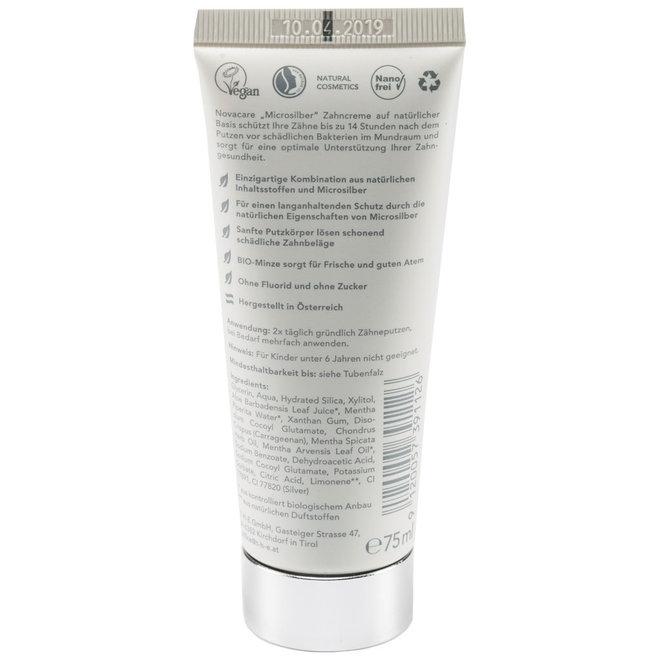 Tandpasta Natuurlijk - Micro Zilver -  Munt - BIO