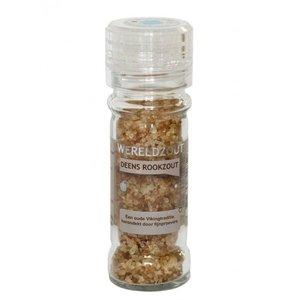 Esspo Deens rookzout in glazen, hervulbare zoutmolen - 105gr