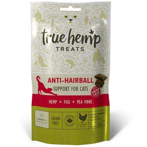 True Hemp Kattensnoepjes - Anti-Haarbal - 50gr