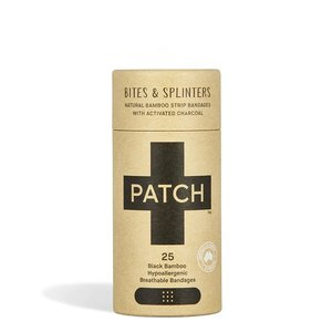 PATCH Bamboe Pleisters - Activated Charcoal - 1 Tube met 25 stuks
