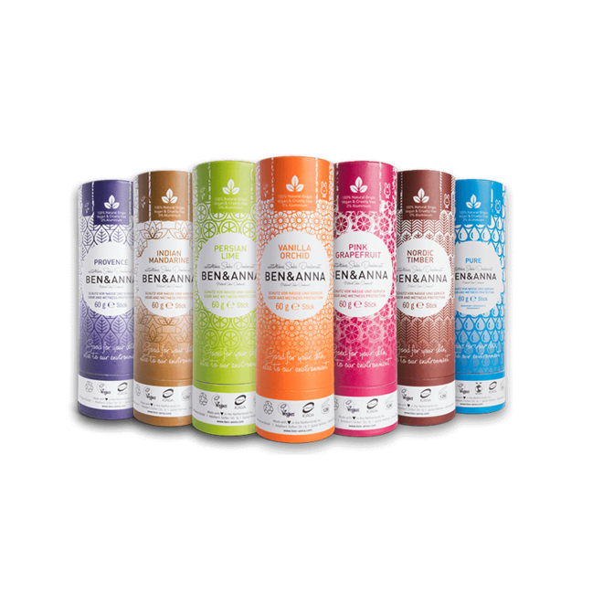 Indian Mandarine natuurlijke soda deodorant stick