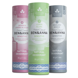 Ben & Anna Highland Breeze sensitive soda deodorant stick