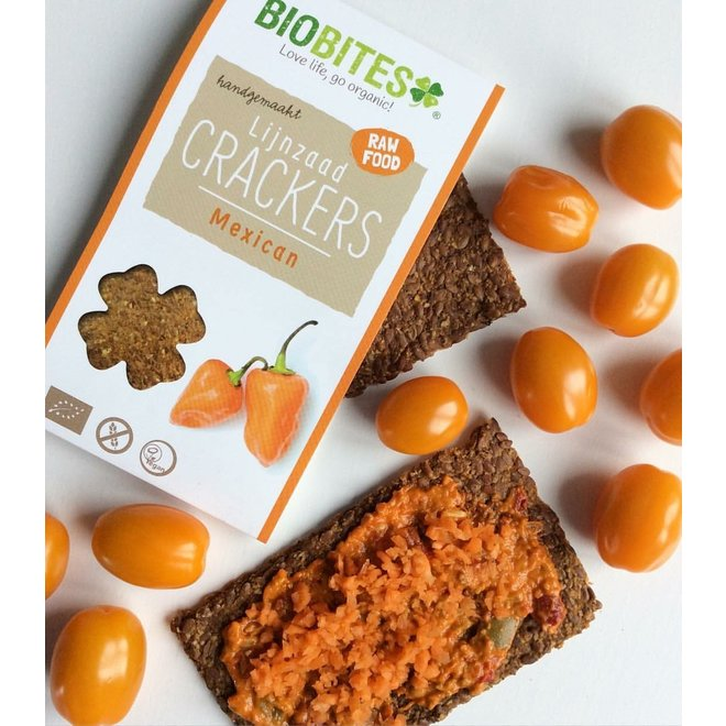Biobites Lijnzaad Crackers Mexican - (6st) 90g - BIO