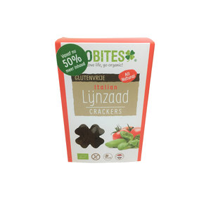 Biobites Raw Food Lijnzaad Crackers Italian 2st - BIO