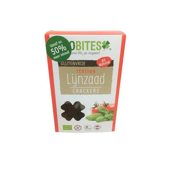 Raw Food Lijnzaad Crackers Italian - (2st) 30g - BIO