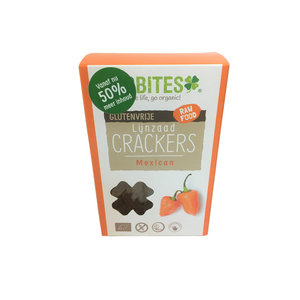 Biobites Biobites Lijnzaad Crackers Mexican - (6st) 90g - BIO
