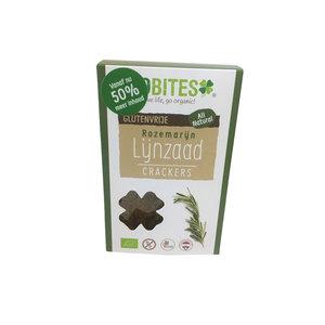 Biobites Biobites Lijnzaad Crackers Rozemarijn - (6st) 90g - BIO