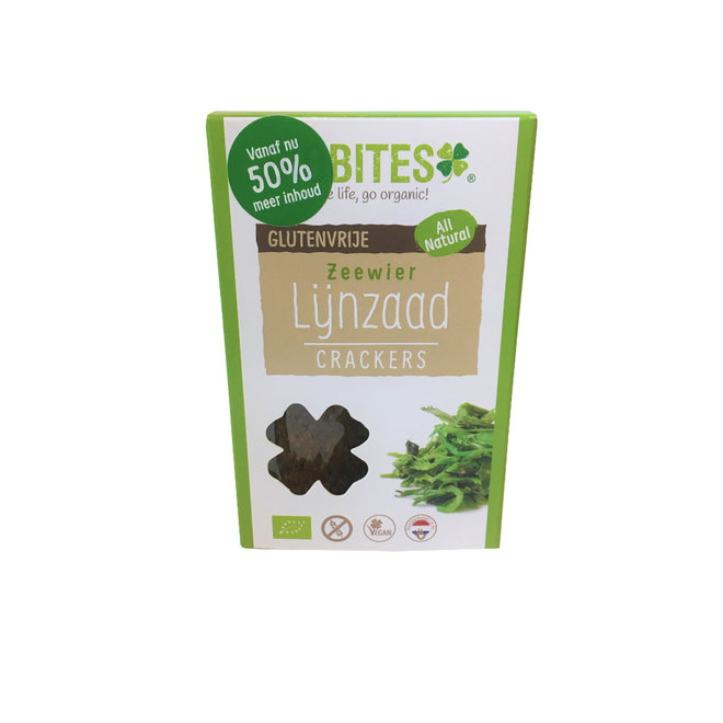 Raw Food Lijnzaad Crackers Zeewier - (2st) 30g - BIO