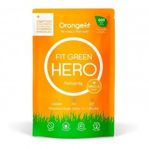 Orangefit Fit Green Hero Vanille - met zoetstoffen uit stevia - 100g