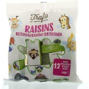 Trafo Rozijnen in kinderdoosje - 140g, 12 doosjes - BIO
