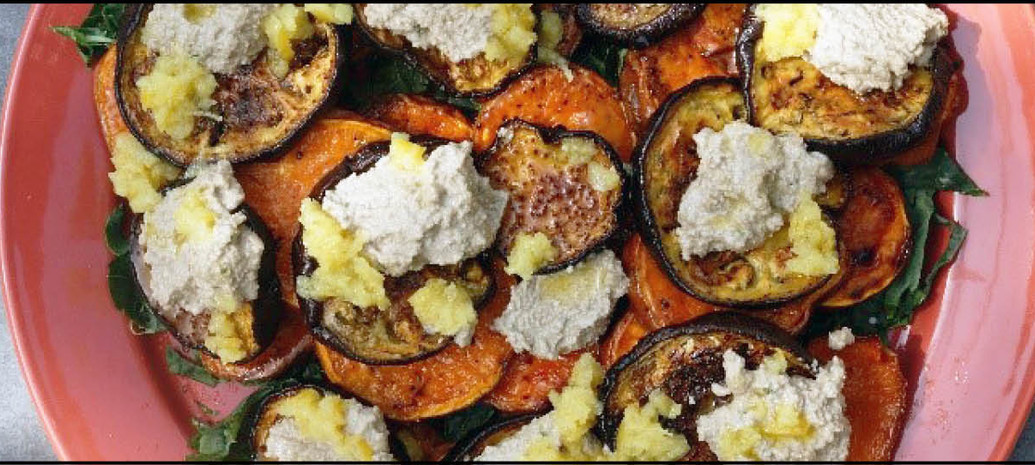 Zoete Aardappelsalade met Haverroom dressing