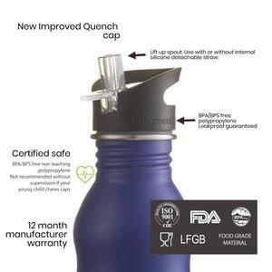 One Green Bottle Curvy - Powder Dark Plum - met Quench cap - 350ml