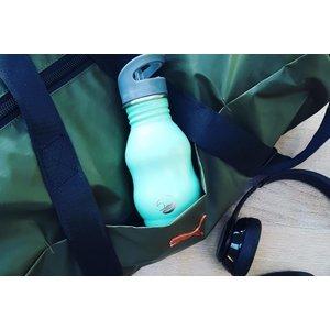 One Green Bottle Curvy - Powder Mint - met Quench cap - 350ml