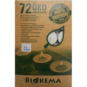 Biokema Theelichtjes 100% recycled - 72st