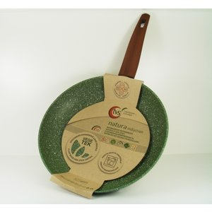 Natura Induction Koekenpan 24cm met hout-look greep - VegeTek