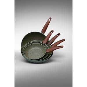 Natura Induction Wokpan met hout-look greep - VegeTek - 28cm