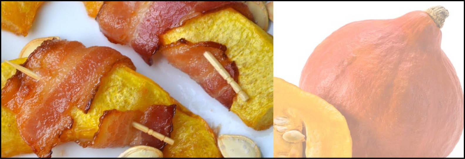 Pompoen snack met bacon