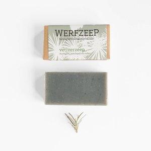 Werfzeep Vetiverzeep  - Handgemaakt en biologische zeep - 100gr