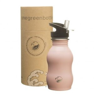 One Green Bottle Curvy - Powder Pink - met Quench cap - 350ml