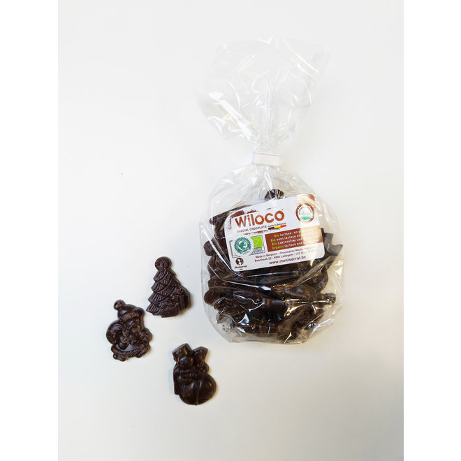 Chocolade kerstfiguurtjes 'Puur' - 150g