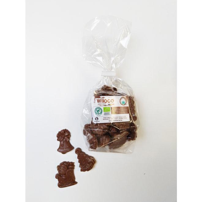 Chocolade kerstfiguurtjes 'Melk' - 150g