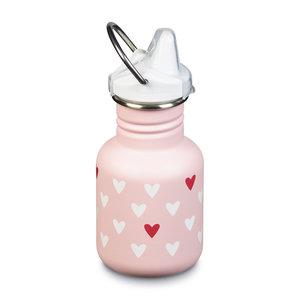 Klean Kanteen Goede tuitbeker anti lek baby - RVS - milenial hearts/pink mat - 355ml