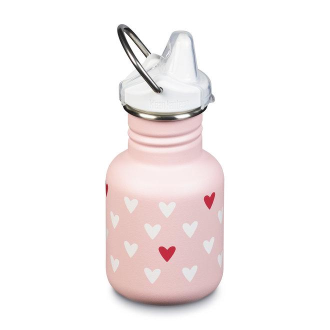 Goede tuitbeker anti lek baby - RVS - milenial hearts/pink mat - 355ml