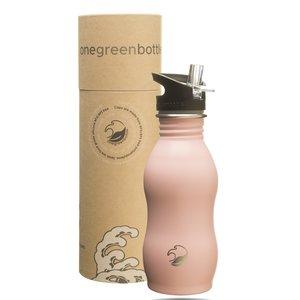 One Green Bottle Curvy - Powder Pink - met Grijze Quench cap - 500ml