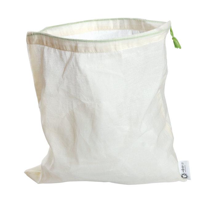 Katoenen zakjes voor groenten en fruit - S - 20x28cm - 5 stuks - BIO