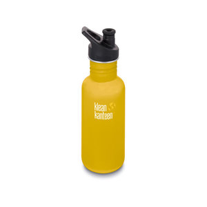 Klean Kanteen RVS Bidon / Drinkfles - Classic Sport Cap - Lemon Curry - 532ml