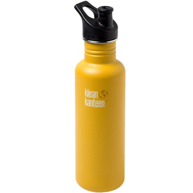 RVS Bidon / Drinkfles - Classic Sport Cap - Lemon Curry - 800ml