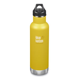 Klean Kanteen RVS thermosfles - Loop Cap - Lemon Curry - 592ml