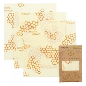 Bee's Wrap Medium Wrap - 25 x 27,5 cm - 3-pack