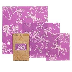 Bee's Wrap Mimi's Purple Wraps - S/M/L - 3-pack