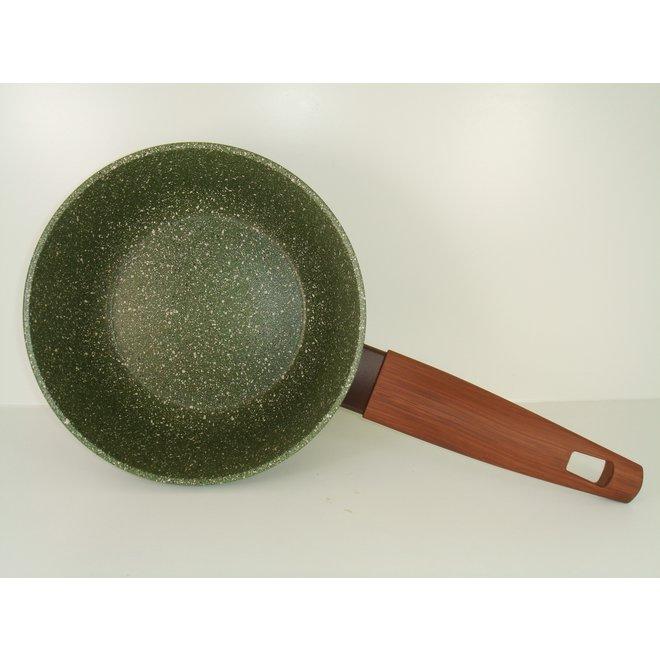 Steelpan 18cm met hout-look greep - VegeTek