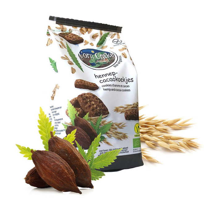 Haverkoekjes met Hennep-Cacao - 150g - BIO