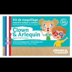 Namaki Cosmetics Schminkset Clown en Harlekijn - BIO