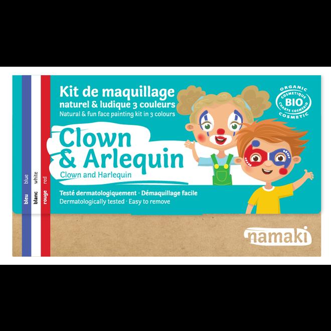 Schminkset Clown en Harlekijn - BIO