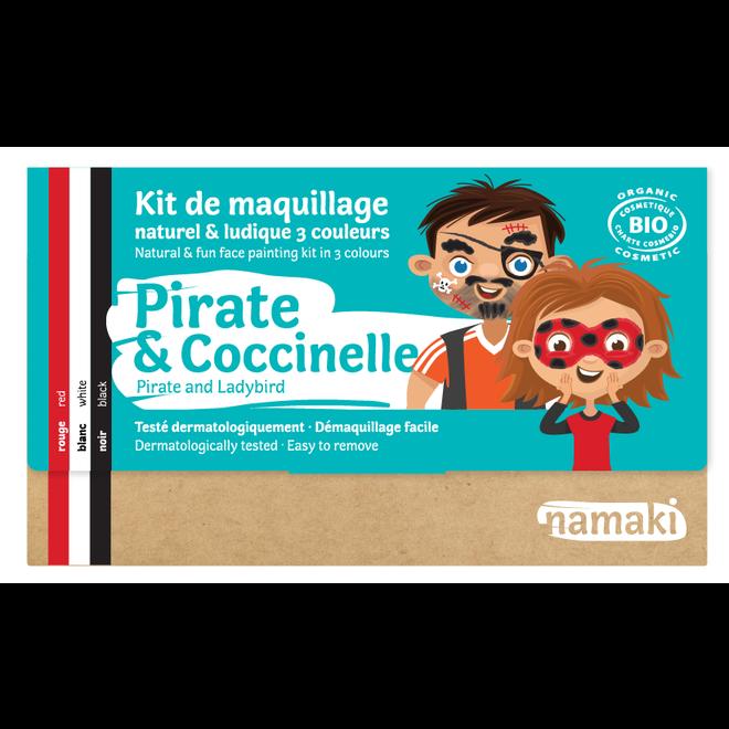 Schminkset Piraat en Lieveheersbeestje - BIO