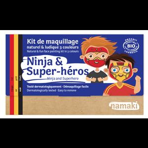 Namaki Cosmetics Schminkset Ninja en Superheld - BIO