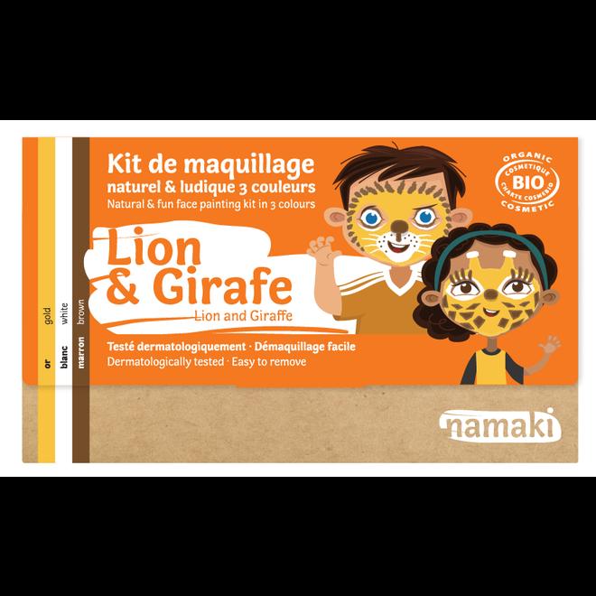 Schminkset Leeuw en Giraf - BIO